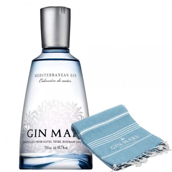 Gin Mare Bundle mit exklusivem Tuch 0,70l 42,7% Vol.