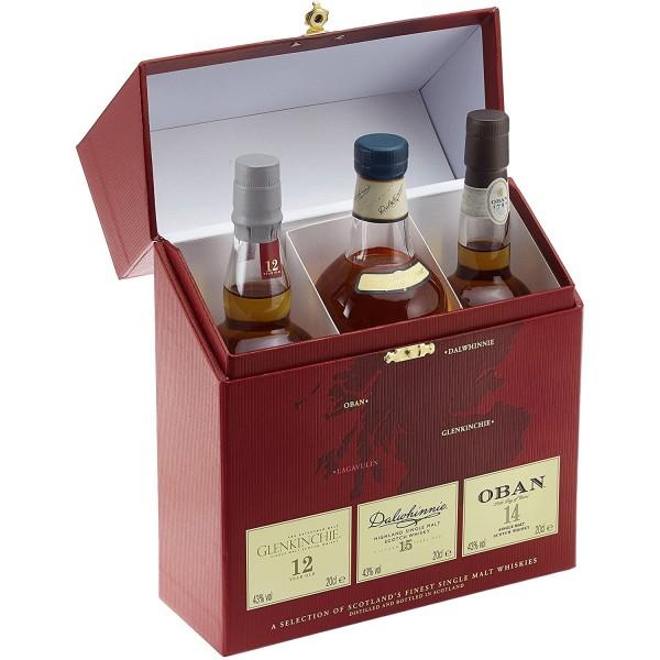 Classic Malts Collection Pack Gentle mit Dalwhinnie 15 Jahre, Oban 14 Jahre und Glenkinchei 12 Jahre