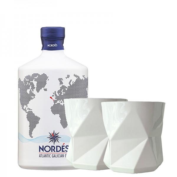 Nordes Atlantic Galician 0,70l 40% Vol. Bundle mit 2 Gläsern