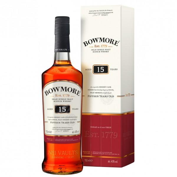 Bowmore 15 Jahre Single Malt Whisky 0,70l