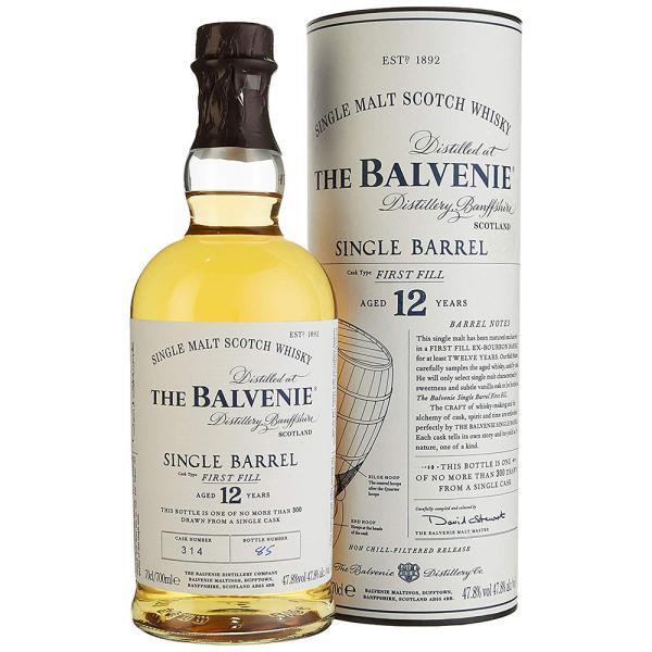 Balvenie Single Barrel 12 Jahre Single Malt Scotch Whisky mit Geschenkverpackung 0,70l