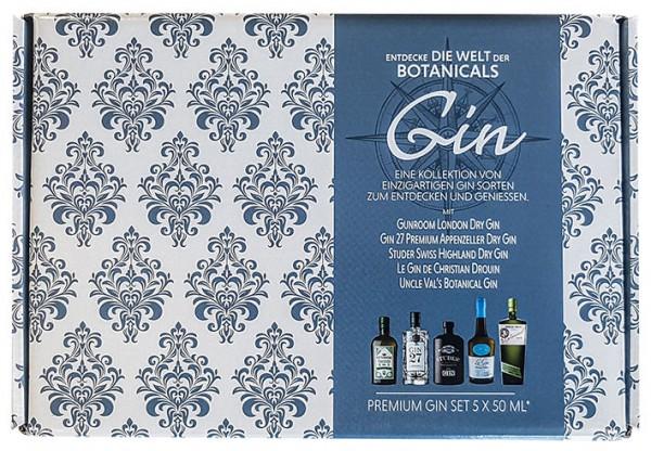 Gin Set Entdecke die Welt 5 x 0,05l