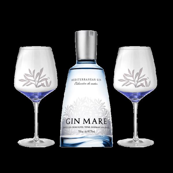 Gin Mare mit 2 Gläsern Mediterranean Gin 0,70l